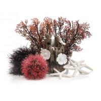 Комплект декора к аквариуму на 15 л, красный
