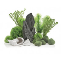 """Комплект декора  """"каменный сад"""" к аквариуму на 30 л, зеленый"""