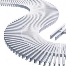 Модуль переливной решетки, пластик, белый - 00222