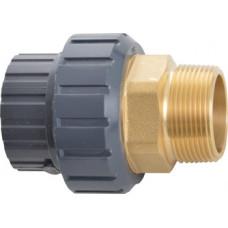 Разъемное соединение ПВХ-латунь, переход металл/пластик - 0247615005