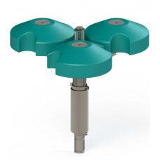 Плавающий фонтан WaterFLOATsys T-S, 3Квт, поток 45 м³/ч, плавающий блок из трех частей, насос из нерж. Стали, 380 В - 400 В, управление DMX