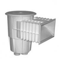 Скиммер навесной универсальный, для использования во всех видах/формах бассейнов,  не клееный, подключение 38 мм