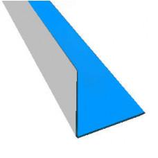 Уголок металлический ламинированный ПВХ внутренний, 5х5 см - 070112